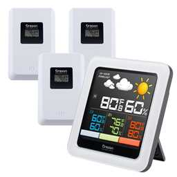 Oregon Scientific RAR502SX Multi-Zone Home Climate Control Wireless Weather Station - Color LCD Display