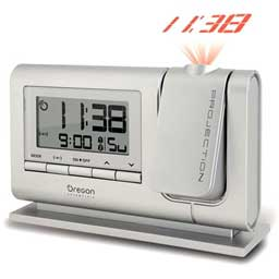 Oregon Scientific RM308PA-S Atomic Dual Alarm Projection Clock - Silver