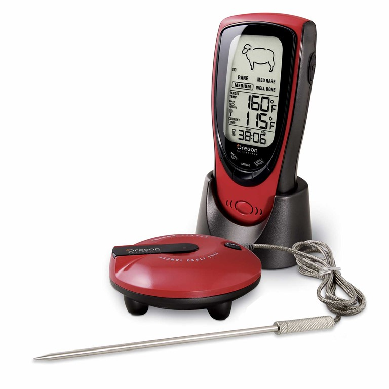 Oregon Scientific AW131 Grill Right Wireless Talking BBQ Thermometer / Oven Thermometer