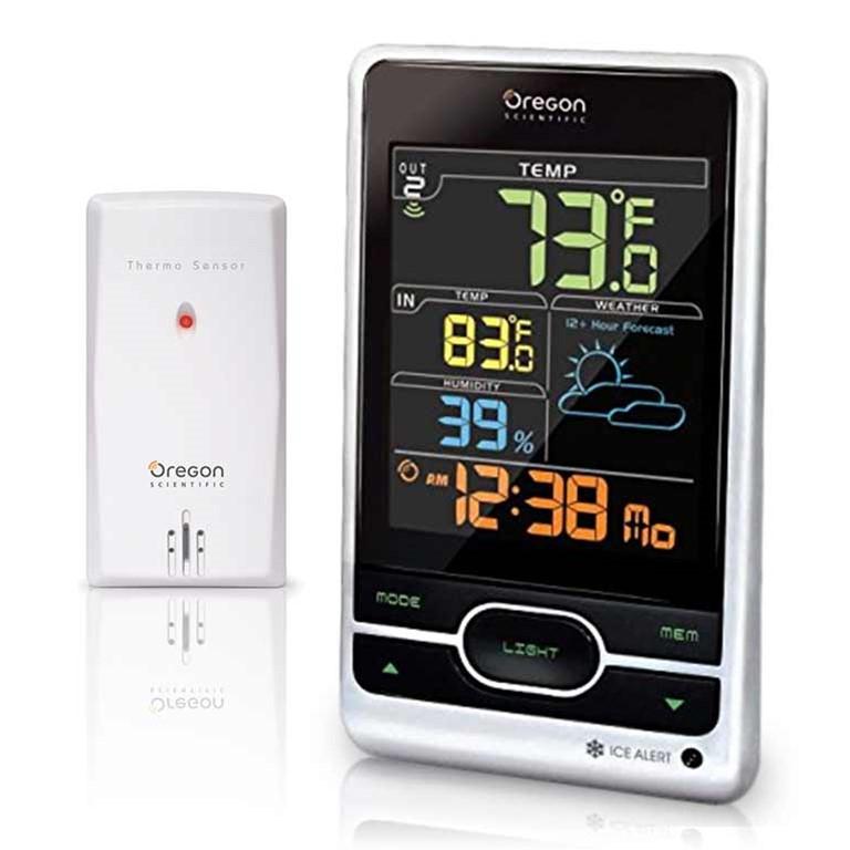 Gentil Oregon Scientific BAR206S / BAR206SA Wireless Weather Forecast Temperature  Station   Color LCD Screen