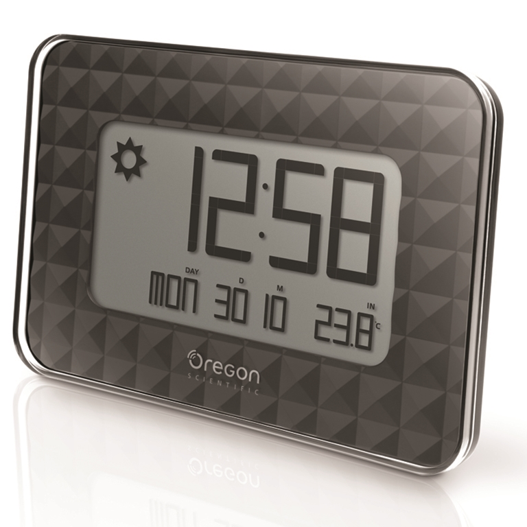 oregon scientific jw208bk glaze digital wall clock black
