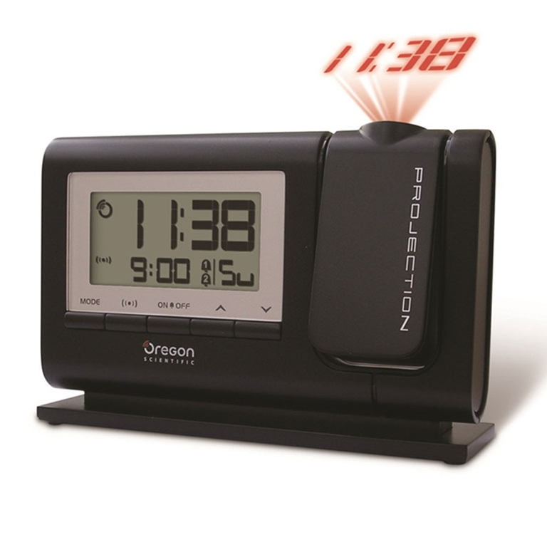 Oregon Scientific RM308PA BK Atomic Dual Alarm Projection Clock