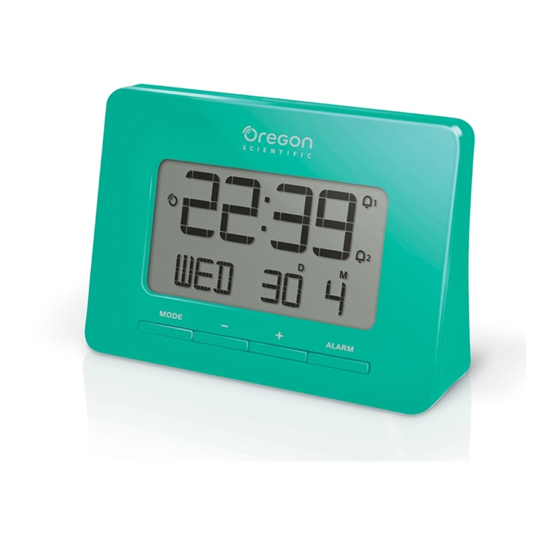 Oregon Scientific RM938-GR Atomic Digital Alarm Clock with Dual Alarm - Green