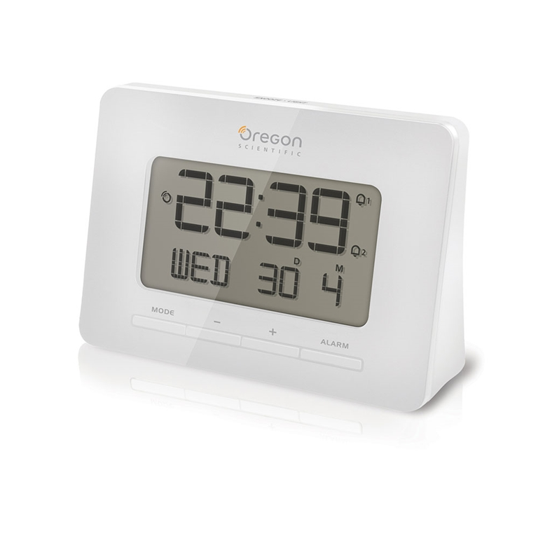 Oregon Scientific RM938-WH Atomic Digital Alarm Clock with Dual Alarm - White