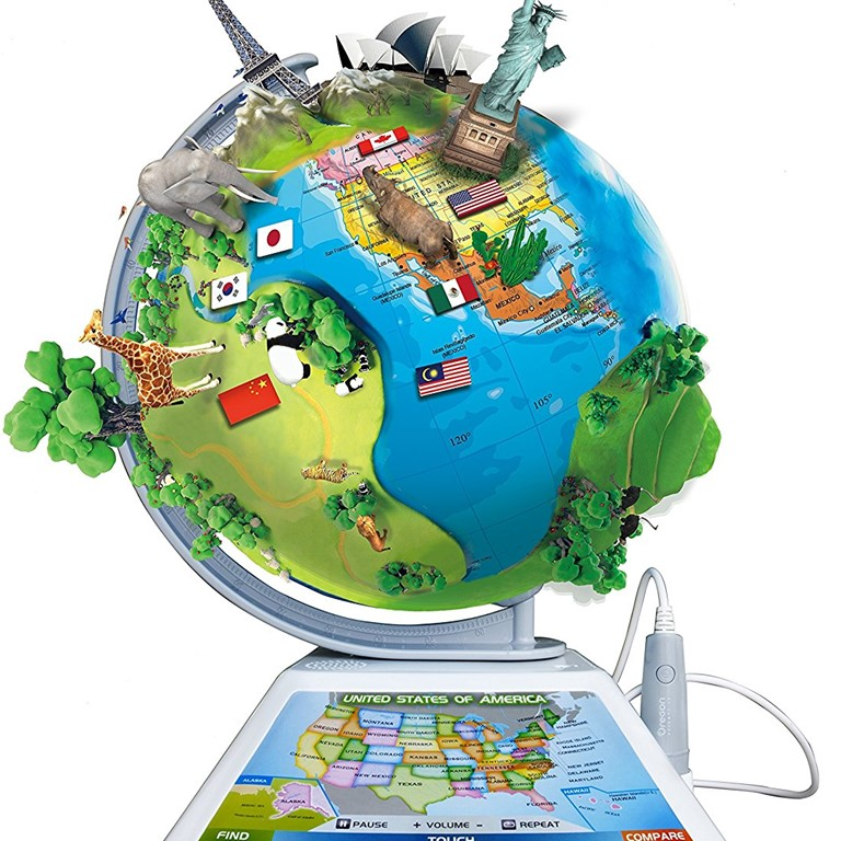 Oregon Scientific SG268R Smart Globe Adventure AR World Geography Educational Games For Kids - Learning Toy
