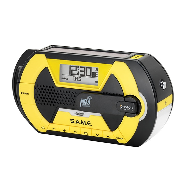 Oregon Scientific WR203 Advanced Portable Emergency Alert Radio with S.A.M.E Technology