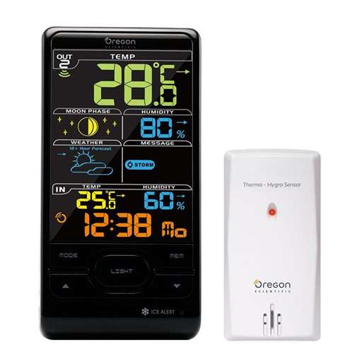 Oregon Scientific BAR208S / BAR208SA Advanced Wireless Weather Station with Atomic Time - Color LCD Screen