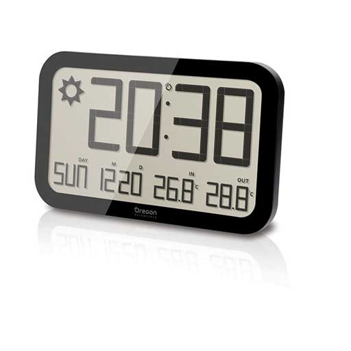 Oregon Scientific JW108A-BK Jumbo Weather Wall Clock - Black