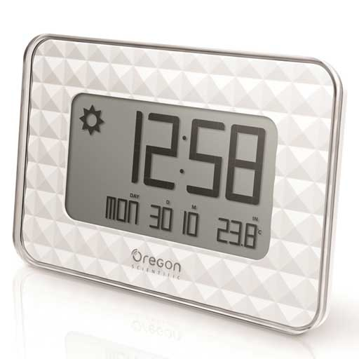 Oregon Scientific JW208-WH GLAZE Digital Wall Clock - White