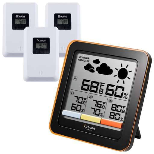 Oregon Scientific RAR502X Multi-Zone Home Climate Control Weather Station