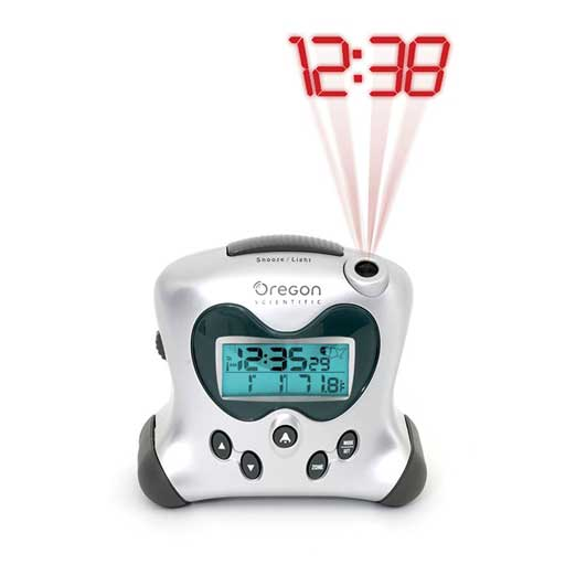 Oregon Scientific RM313PNA Projection Atomic Alarm Clock with Indoor Temperature