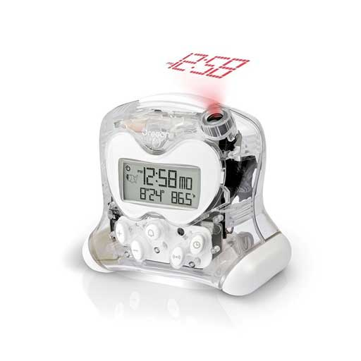 Oregon Scientific RM313PNFA-TR Hip & Cool Atomic Projection Clock with Indoor Temperature - Transparent
