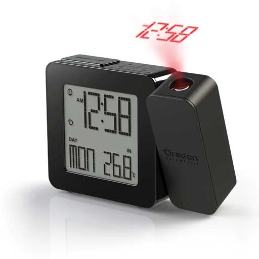 Oregon Scientific RM338PA-BK PROJI Projection Clock with Dual Alarm - Black