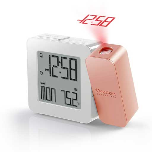 Oregon Scientific RM338PA-RG PROJI Projection Clock with Dual Alarm - Rose Gold