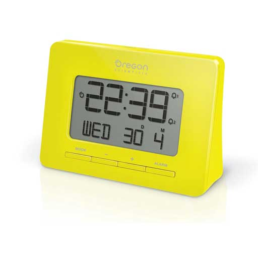 Oregon Scientific RM938-Y Atomic Digital Alarm Clock with Dual Alarm - Yellow