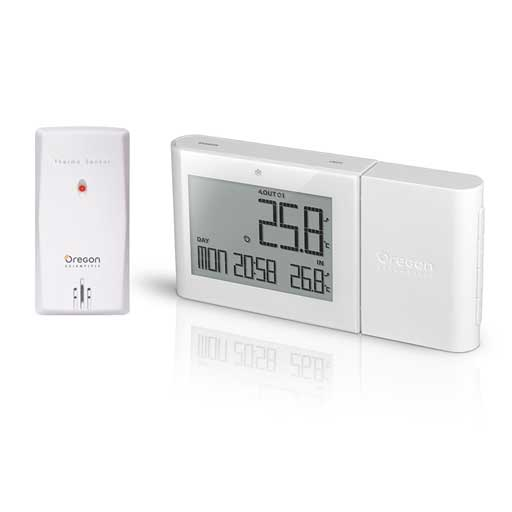 Oregon Scientific RMR262-WH Alize Wireless Indoor/Outdoor Thermometer - White