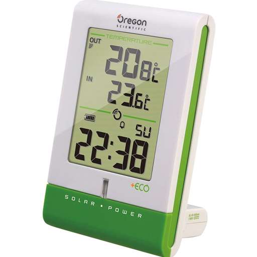 Oregon Scientific RMR331ESA Eco Solar Clock with Temperature