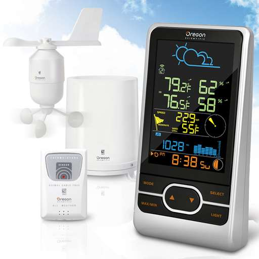 Oregon Scientific WMR86NS / WMR86NSA Backyard Pro Home Wireless Weather Station - Color LCD Screen - Home Weather Station