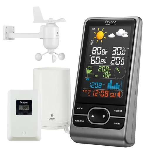 Oregon Scientific WMR86NSX Backyard Pro Home Wireless Weather Station - Color LCD Screen