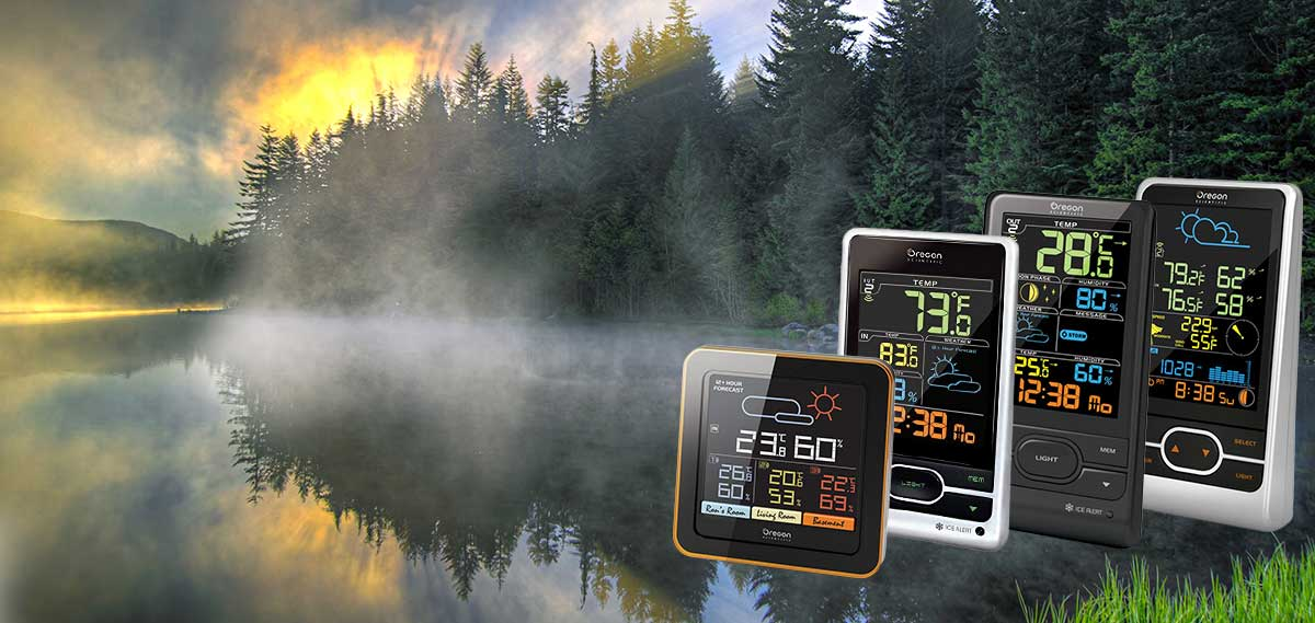 Oregon Scientific Store Weather Stations with Color LCD