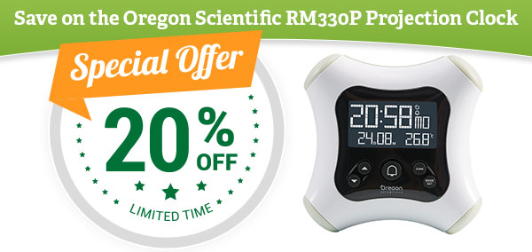 20% Off the RM330P Projection Clock