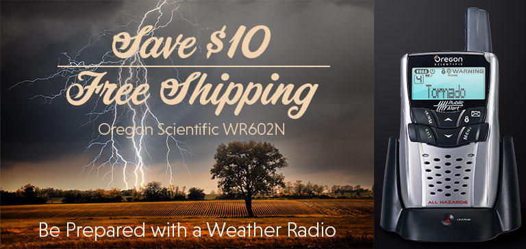 WR602N Portable Weather Radio Sale at the Oregon Scientific Store